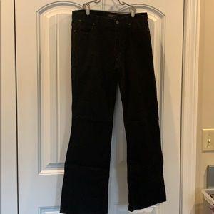 Talbots black corduroy pants